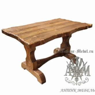 Стол состаренный из сосны Волна 120х80