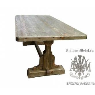 Стол состаренный из сосны Оливковый 160х80
