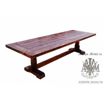 Стол состаренный из сосны Паскаль 300х100