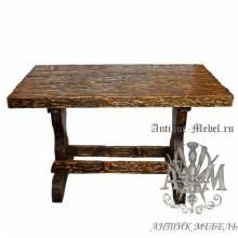 Стол состаренный из сосны Охотник 130х80