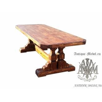 Стол состаренный из сосны Князь 200х100