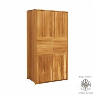 Шкаф для одежды Лоредо 2PV из массива дуба
