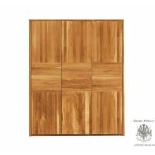 Шкаф для одежды Лоредо 3VVP из массива дуба