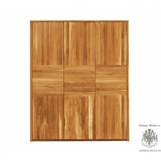 Шкаф для одежды Лоредо 3PPV из массива дуба