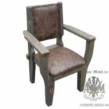 Кресло из массива сосны Юкон мягкое