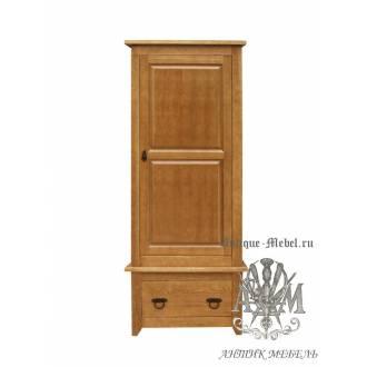 Шкаф 1 створчатый Юта V массив сосны