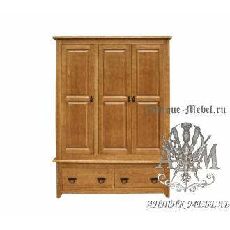 Шкаф 3х створчатый Юта PVV массив сосны