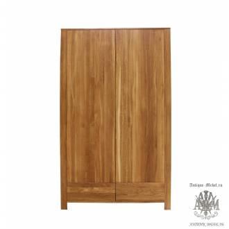 Шкаф для одежды Сиэтл 2VV из массива дуба