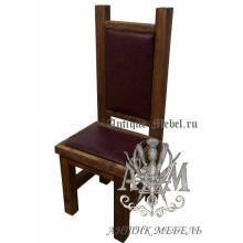 Деревянный стул из массива сосны Столовый-2 полумягкий