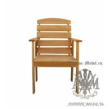 Кресло садовое для дачи Малибу массив ольхи