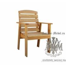 Кресло садовое для дачи Малибу массив дуба