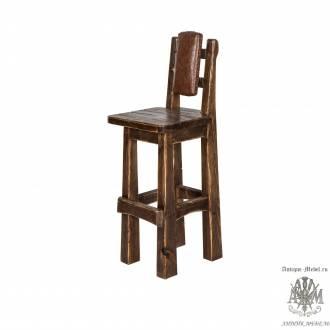 Барный стул из массива сосны Граф