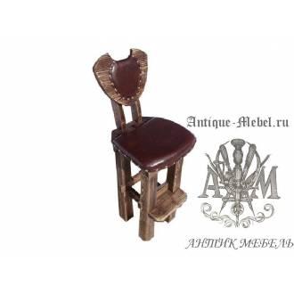 Барный стул из массива сосны Подкова мягкий