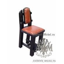 Барный стул из массива сосны Царский мягкий