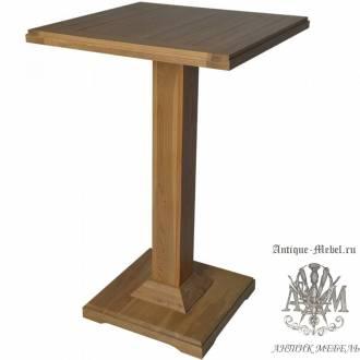 Барный стол 70х70 из массива дуба Саймон высокий