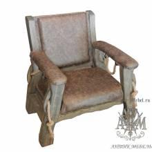 Мягкое кресло из массива сосны Юкон