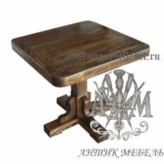 Стол состаренный квадратный Классик