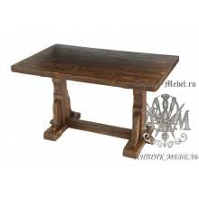 Деревянный стол 130x80 под старину из массива сосны Рошфор