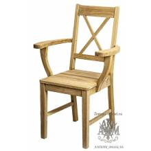 Кресло из массива дуба Элиза