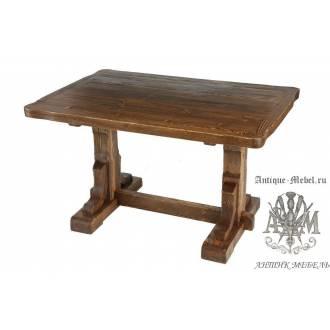 Деревянный стол 130x80 под старину из массива сосны Ришелье