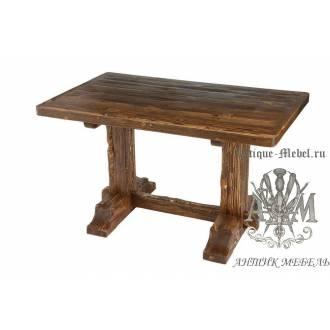 Деревянный стол 130x80 под старину из массива сосны Рыбак