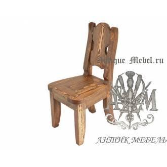 Деревянный стул под старину из массива сосны Атос