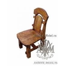 Деревянный стул под старину из массива сосны Ришелье