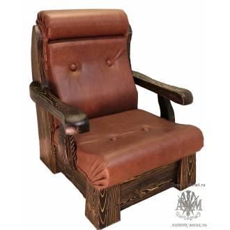 Деревянное кресло Портос из массива