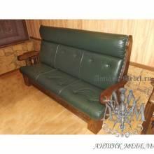 Прямой диван Кантри мягкий из экокожи