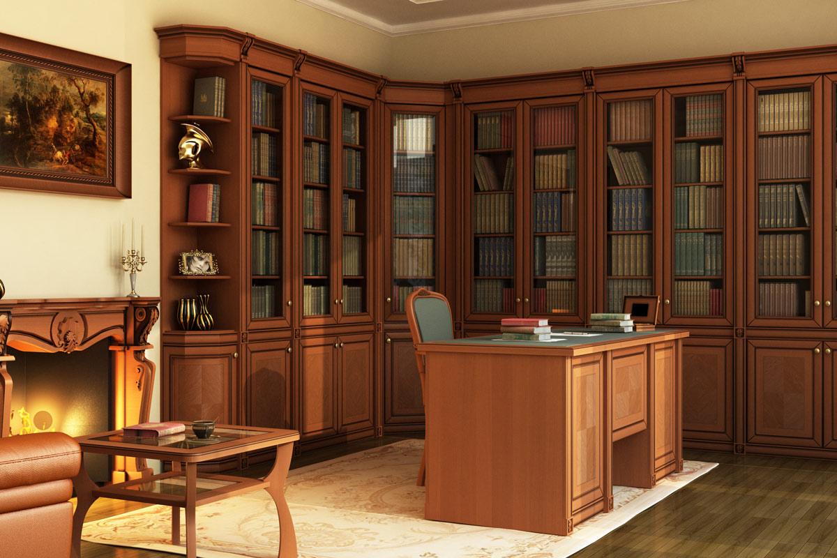 Кабинеты и библиотеки - мебель на заказ.